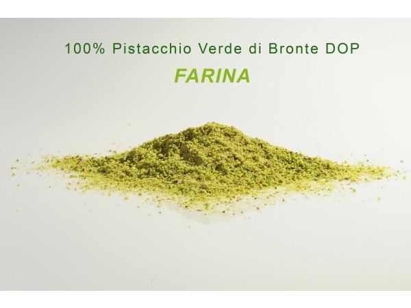 FARINA 100% PISTACCHIO VERDE DI BRONTE DOP GRANDI FORMATI 250gr/500gr/1kg