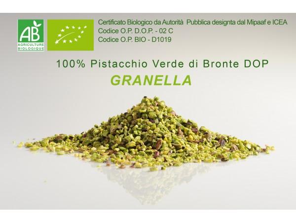 GRANELLA 100% PISTACCHIO VERDE DI BRONTE DOP e  BIO 250gr/500gr/1kg