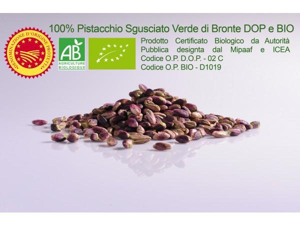 SGUSCIATO 100% PISTACCHIO VERDE DI BRONTE DOP e  BIO 250gr/500gr/1kg