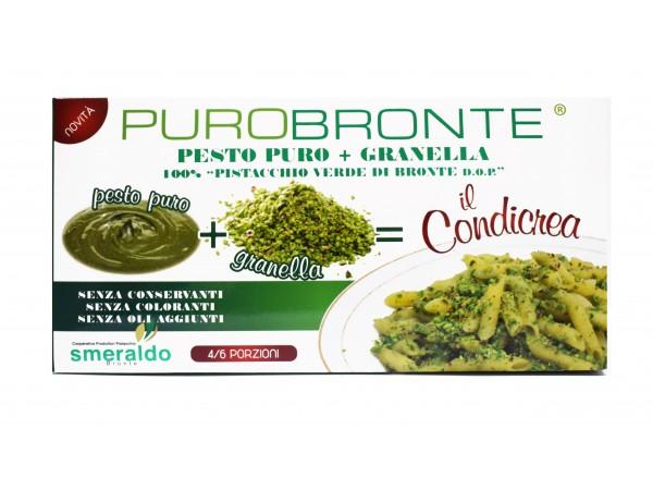 CONDICREA - PASTA PURA + GRANELLA 100% di pistacchio verde di Bronte DOP