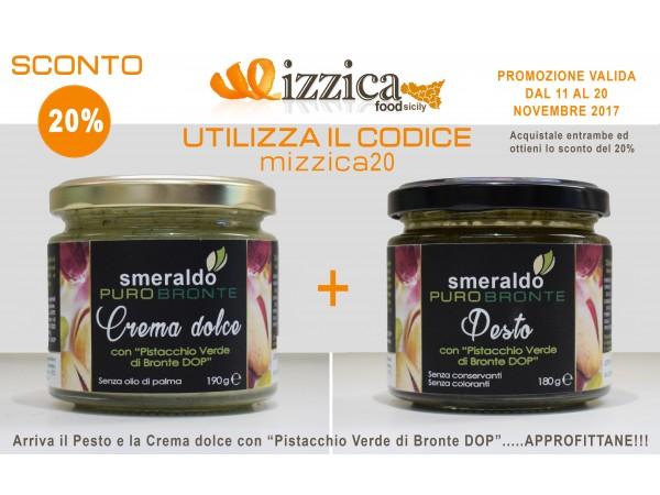 Pesto con Pistacchio Verde di Bronte DOP + Crema dolce con Pistacchio Verde di Bronte DOP